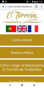 Web Mólvil Restaurante Valladolid El Torreón Tordesillas